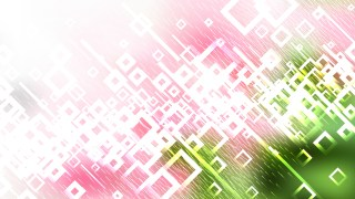 Pink Green and White Square Background