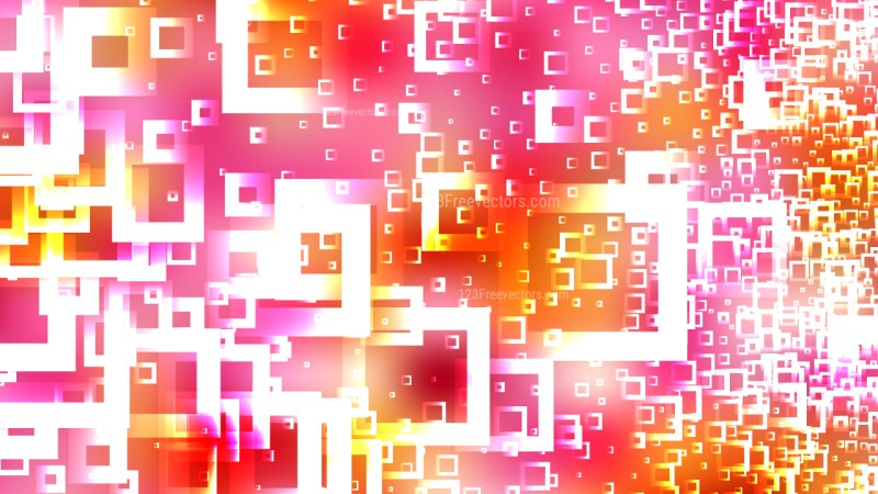 Modern Abstract Pink Yellow and White Squares Background