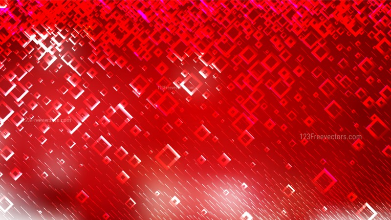 Red Modern Square Background