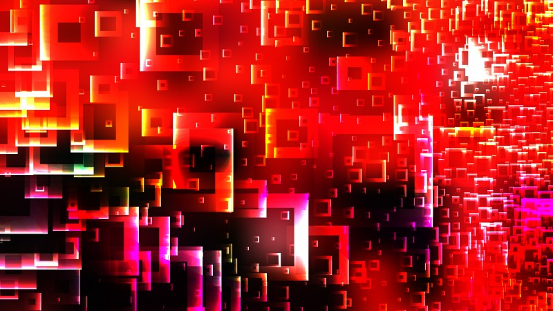 Abstract Red and Black Square Background