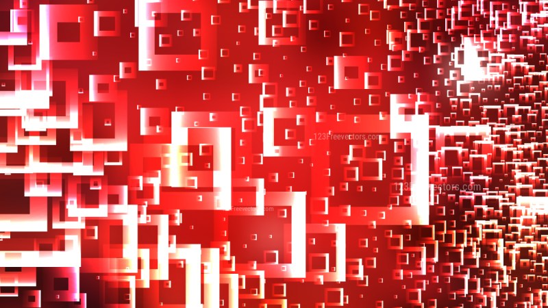 Red and White Square Background
