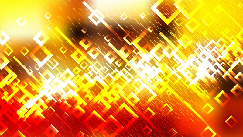 Red White and Yellow Abstract Modern Square Background