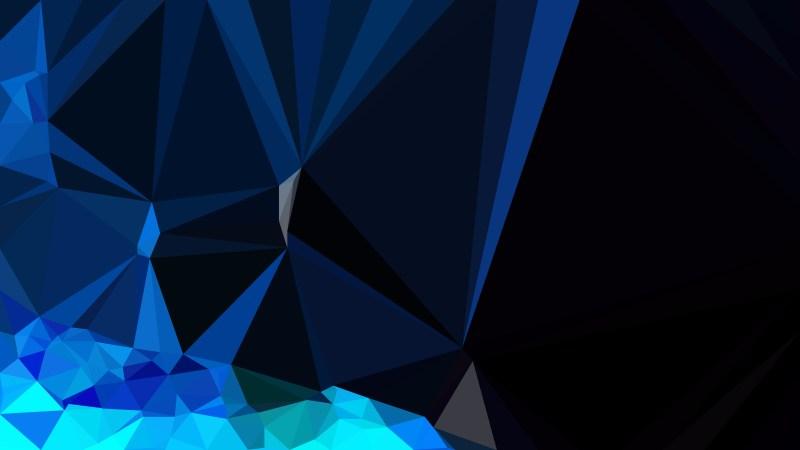 Black and Blue Modern Geometric Shapes Background