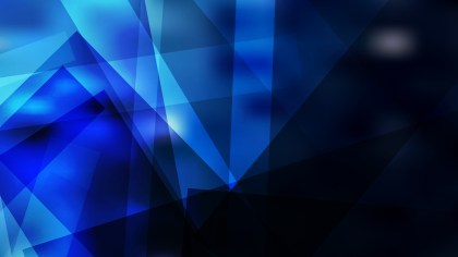 Abstract Black and Blue Geometric Background Vector Illustration