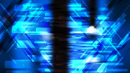 Abstract Black and Blue Lines Stripes and Shapes Background