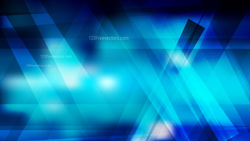 Abstract Black and Blue Lines Stripes and Shapes Background Vector Art