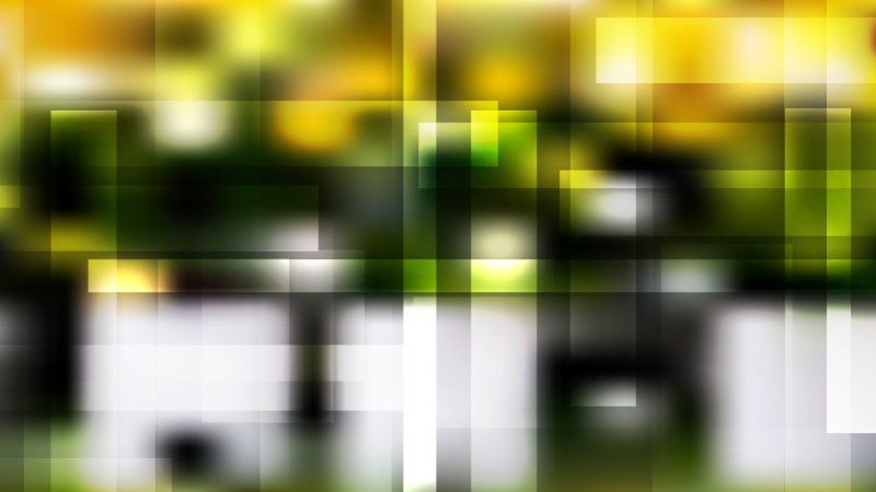 Abstract Black Green and Yellow Geometric Background Vector Art