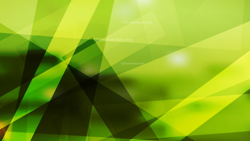 Black Green and Yellow Modern Geometric Shapes Background Vector Art