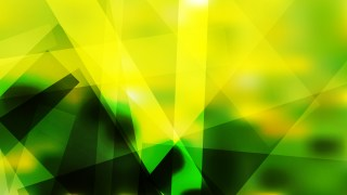 Abstract Black Green and Yellow Lines Stripes and Shapes Background Vector Image