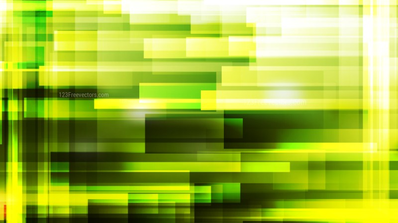 Abstract Black Green and Yellow Geometric Background Illustration
