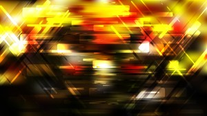 Geometric Abstract Black Red and Yellow Background Vector Graphic