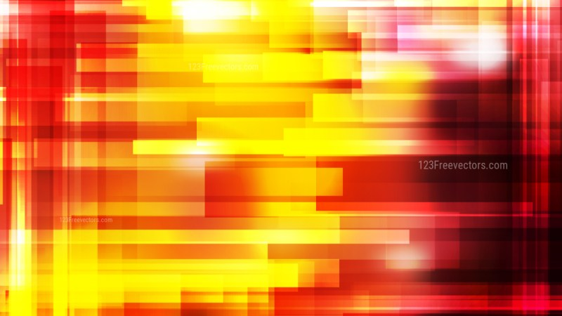 Abstract Black Red and Yellow Lines Stripes and Shapes Background