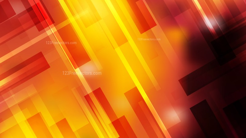 Abstract Black Red and Yellow Lines Stripes and Shapes Background Vector Illustration