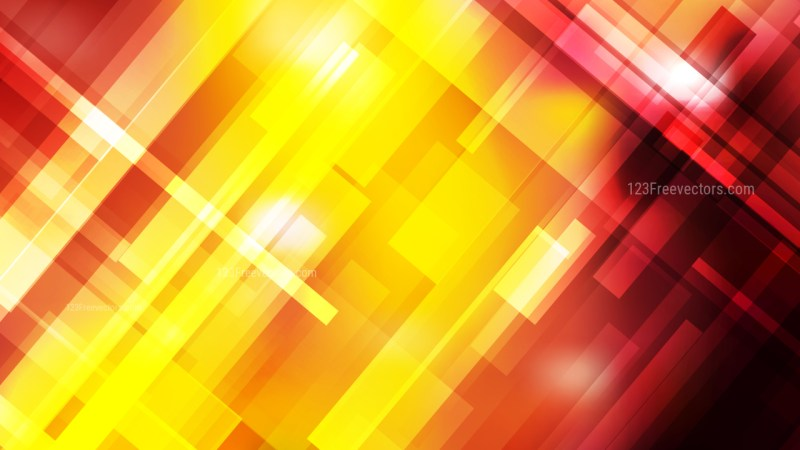 Black Red and Yellow Modern Geometric Background Vector Image