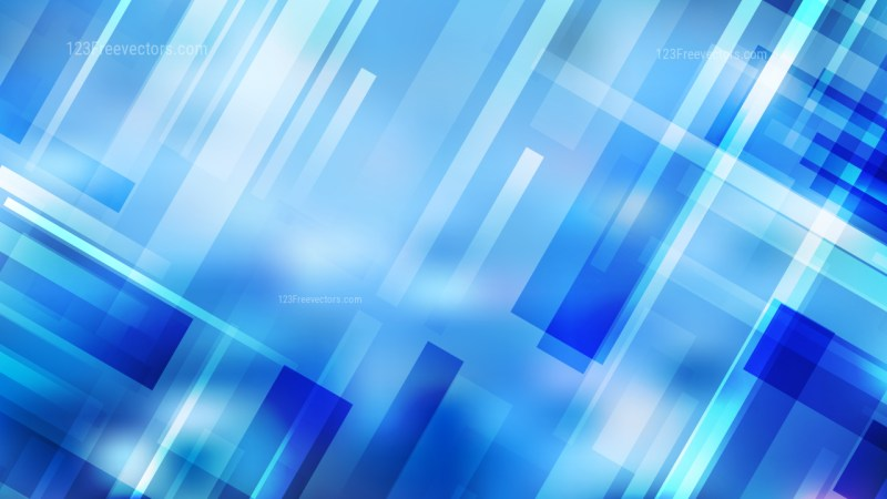 Blue Geometric Shapes Background Vector Graphic