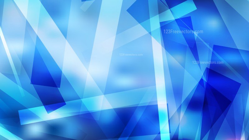 Abstract Blue Modern Geometric Shapes Background