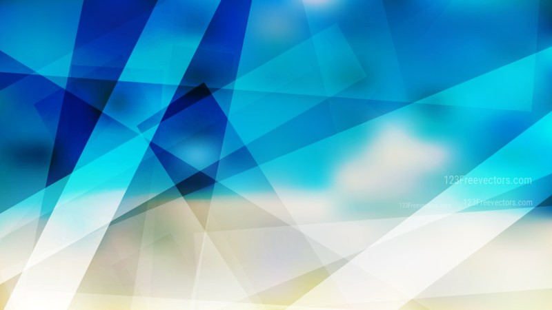 Abstract Blue and Beige Geometric Background Vector Image