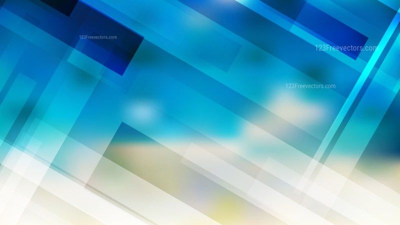 Geometric Abstract Blue and Beige Background