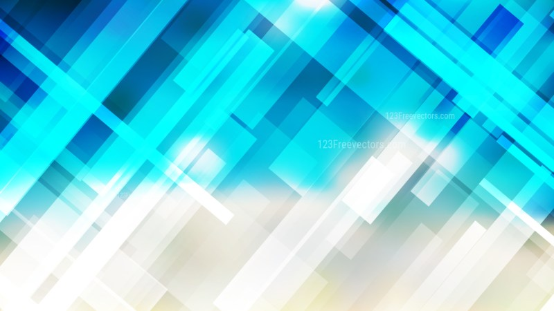 Blue and Beige Geometric Background Vector