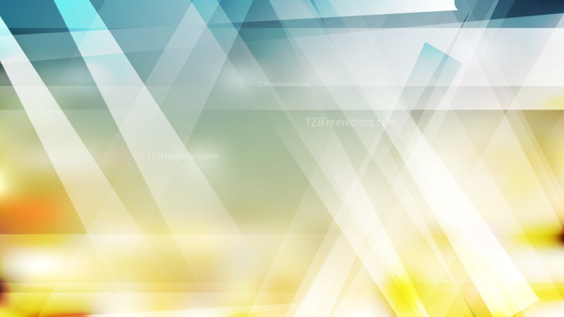 Abstract Geometric Blue and Gold Background