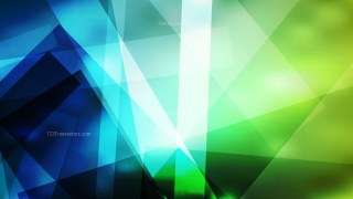 Abstract Blue and Green Geometric Background Vector Image