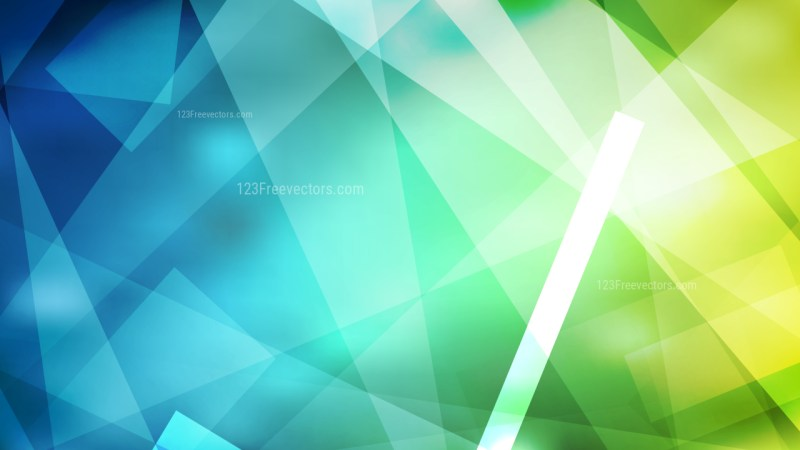 Blue and Green Geometric Abstract Background