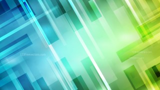 Abstract Geometric Blue and Green Background