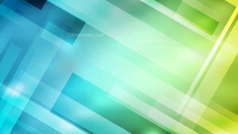 Blue and Green Geometric Shapes Background