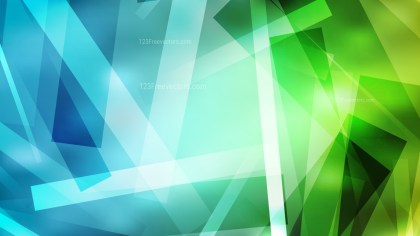 Blue and Green Geometric Shapes Background Graphic