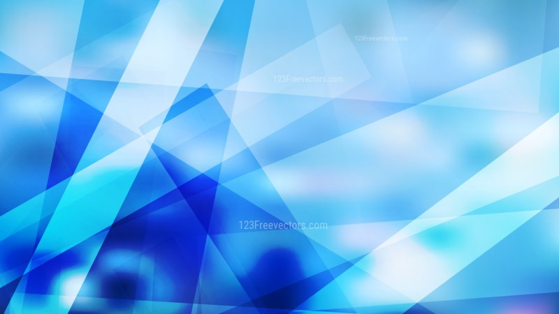 Blue and White Modern Geometric Background Illustration