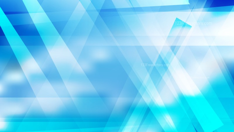 Abstract Blue and White Geometric Background Vector Image