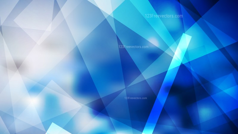 Abstract Blue and White Geometric Shapes Background Image
