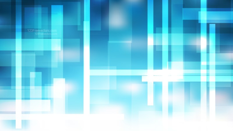 Geometric Abstract Blue and White Background Design