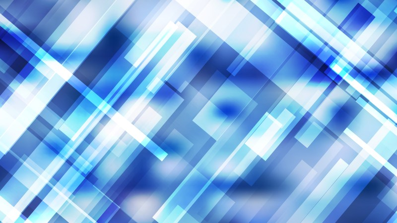 Blue and White Lines Stripes and Shapes Background Vector