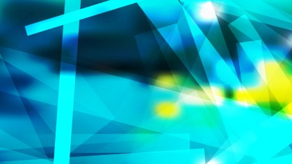 Abstract Blue and Yellow Geometric Shapes Background Image