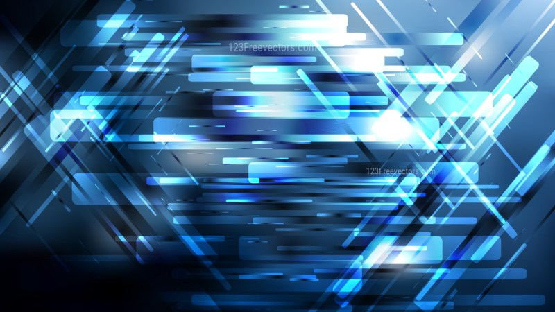 Blue Black and White Geometric Abstract Background Vector Art