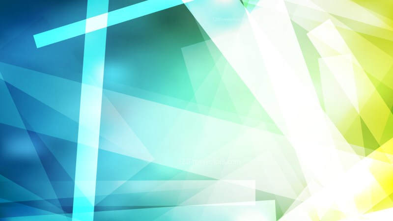 Blue Green and White Lines Stripes and Shapes Background Graphic