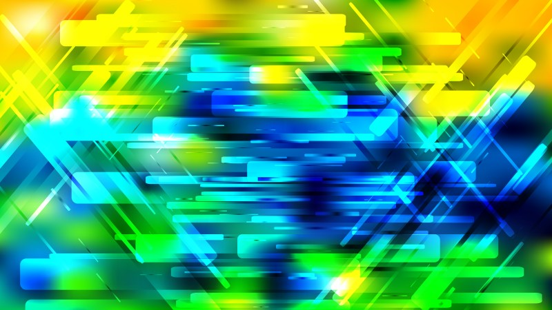 Abstract Blue Green and Yellow Geometric Background