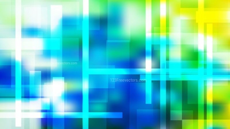 Abstract Blue Green and Yellow Geometric Background Illustration