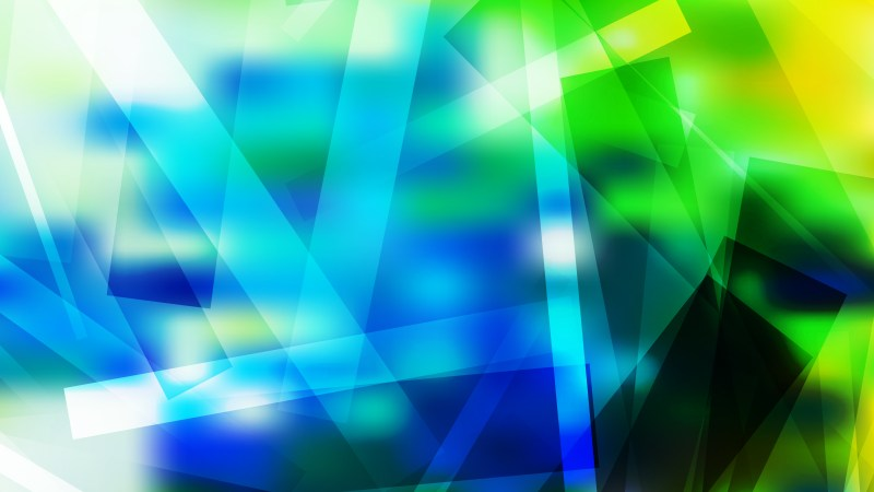 Blue Green and Yellow Geometric Abstract Background Illustration