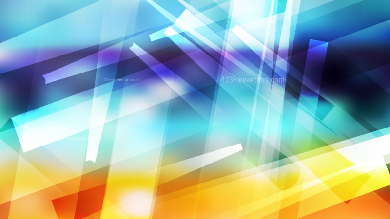 Blue Orange and White Geometric Background Vector Graphic