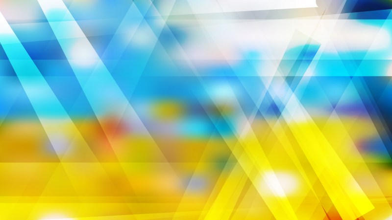 Blue Yellow and White Geometric Abstract Background Vector Image