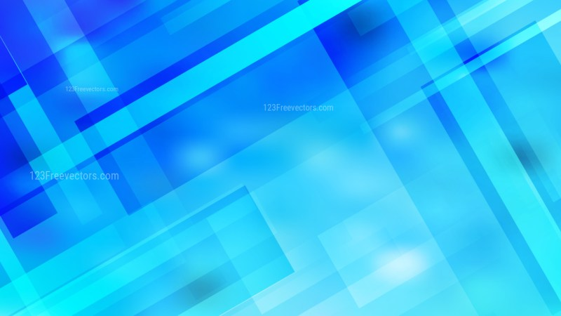 Abstract Bright Blue Geometric Background Vector Illustration
