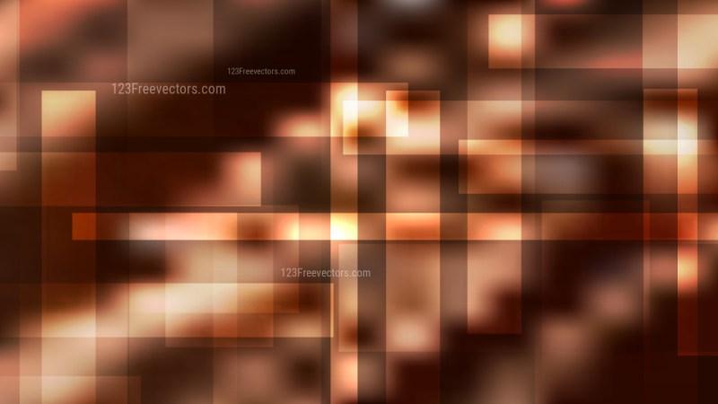 Coffee Brown Modern Geometric Shapes Background