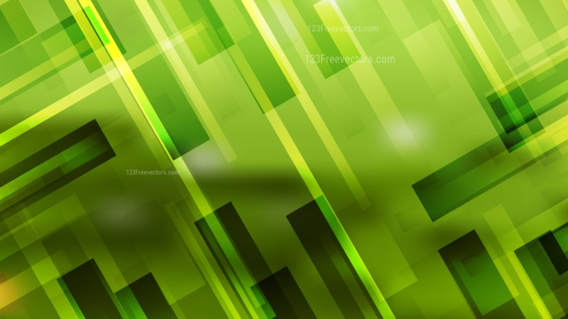 Green Lines Stripes and Shapes Background