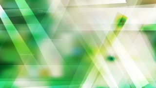 Abstract Green and White Geometric Shapes Background Illustration