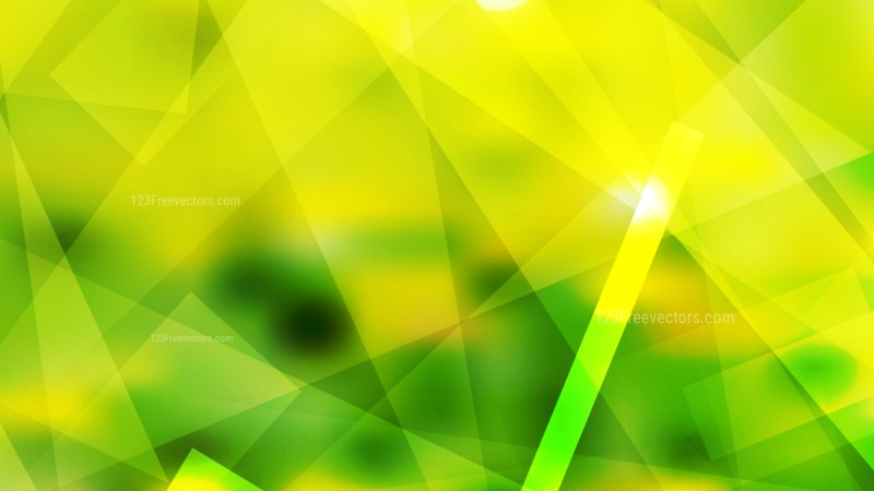 Green and Yellow Lines Stripes and Shapes Background