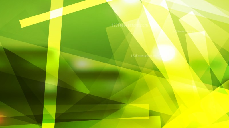 Abstract Green and Yellow Lines Stripes and Shapes Background