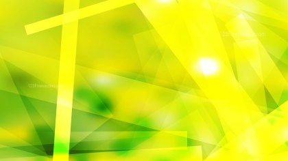 Abstract Green and Yellow Geometric Shapes Background Vector Art