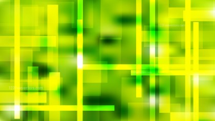 Abstract Green and Yellow Modern Geometric Shapes Background